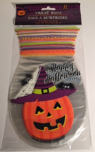 Other Gift Wrapping & Supplies 12 x Halloween Pumpkin Trick or Treat Loot Self Seal Party treat favour bags