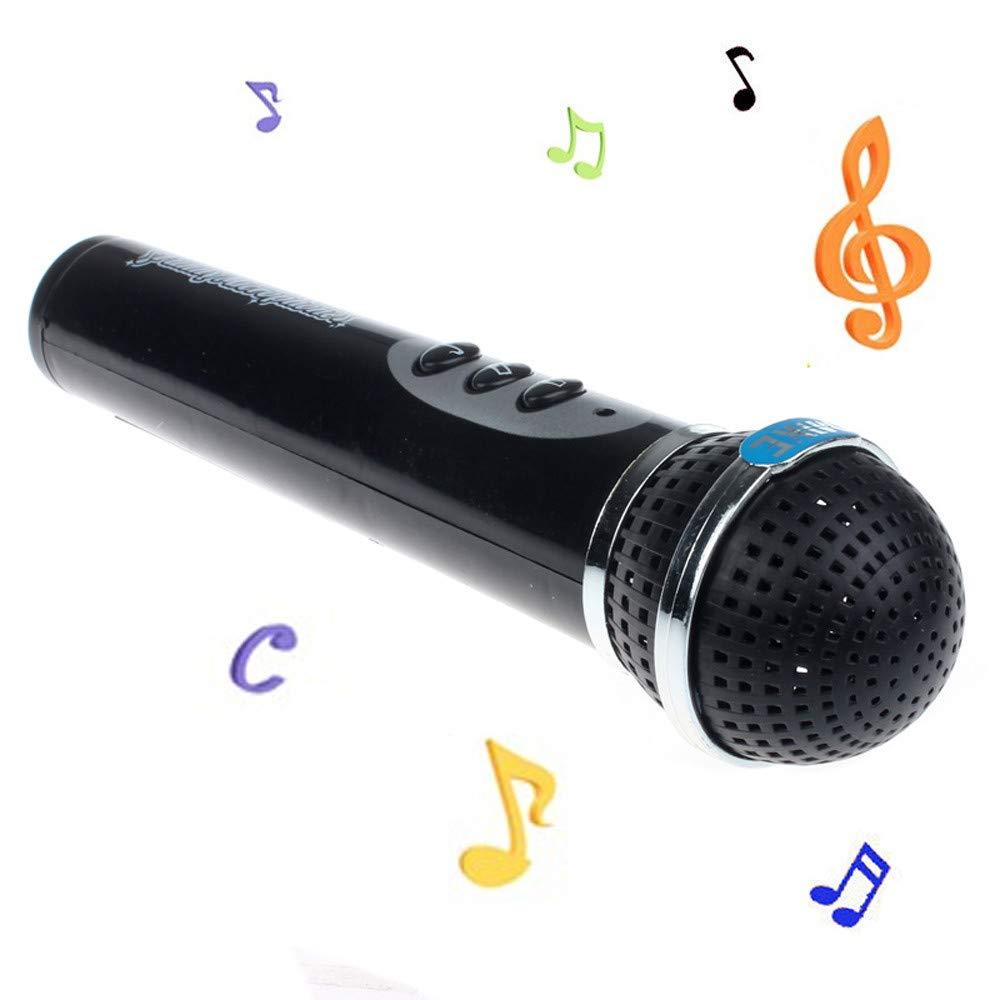 Onefa Girls Boys Microphone Mic Karaoke Singing Kid Funny Gift Music Toy (Black)