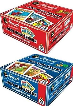 Schmidt - Juego de 2 Juegos de Mesa para Personas (más irritantes, ampliación de mapas), Color Rojo y Azul: Amazon.es: Juguetes y juegos