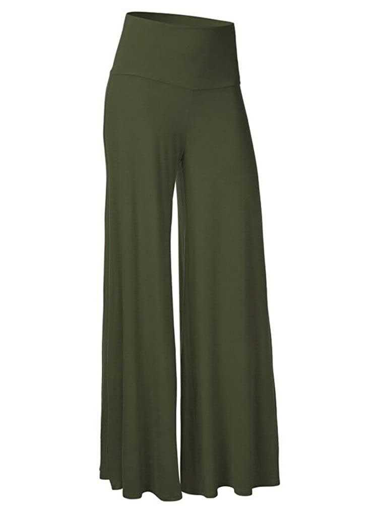 Honeystore Womens Comfy Chic High Waisted Long Palazzo Lounge Pant