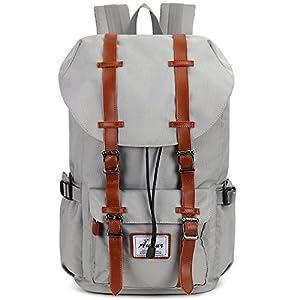 75485a53d6ad7 Fresion Laptop Rucksack Damen Herren Schulrucksack Retro Backpack für  Campus Studenten und Outdoor Reisen Wandern Test- Als Freizeitrucksack  geeignet.