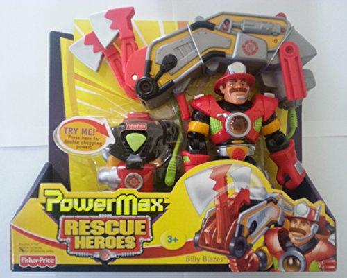 Fisher-Price Rescue Heroes PowerMax Billy Blazes Firefighter
