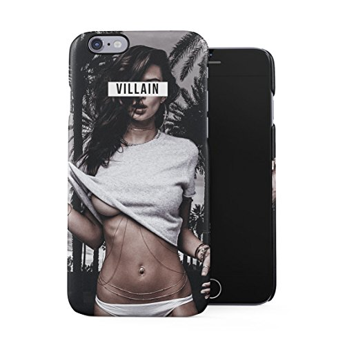 Villain Hot Naughty Girl Cali California Palms Miami Beach Good Vibes Only High Life Plastic Phone Snap On Back Case Cover Shell for iPhone 6 & iPhone 6s ()