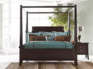 Ashley millennium martini suite king poster bed with canopy home kitchen for Ashley millennium bedroom suite