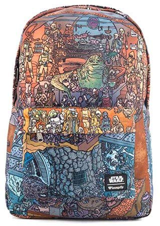 Loungefly Star Wars Jabba's Palace Backpack Pencil Case Set - EE Excl.