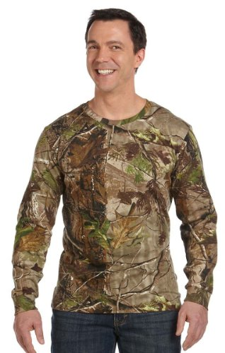 Adult REALTREE Camouflage Long-Sleeve T-Shirt (APG Realtree HD) (Large)