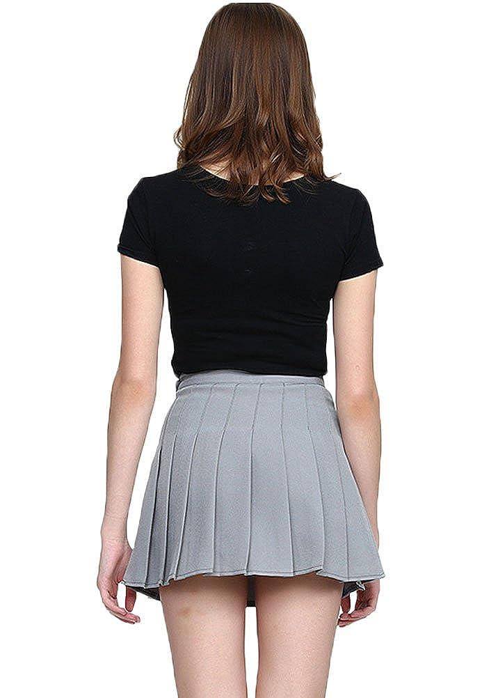 Soojun Womens Summer Active Skort Box Pleated Tennis Skirt.
