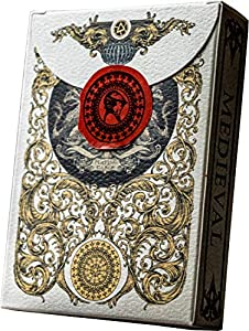 Medieval Gold Playing Cards, Deck of Cards, Cool Magic Cards, Best Poker Cards, Unique Illustrated Black & Red Colors for Kids & Adults, Playing Card Decks Games, Standard Size