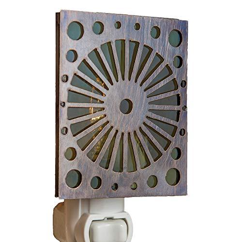 oss Green and Brass Night Light Contemporary Modern Design Decorative ()