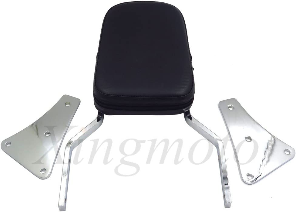 NBX Skull Backrest Sissy Bar For Compatible with Kawasaki Vulcan 1500 Classic All Years 1986-2013