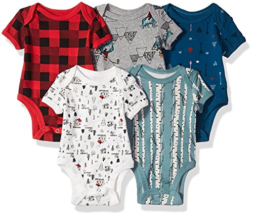5 Pack Bodysuits (More Colors Available), Mountain Theme, 6-9 Months ()