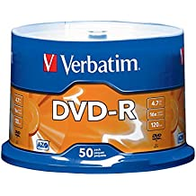 Verbatim DVD-R 4.7GB 16x AZO Recordable Media Disc - 50 Disc Spindle