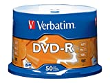 Electronics : Verbatim 4.7GB up to 16x Branded Recordable Disc AZO DVD-R 50-Disc Spindle 95101