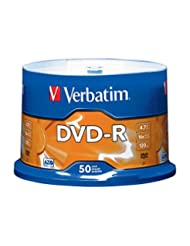 Verbatim 4.7GB up to 16x Branded Recordable Disc AZO DVD-R 50...
