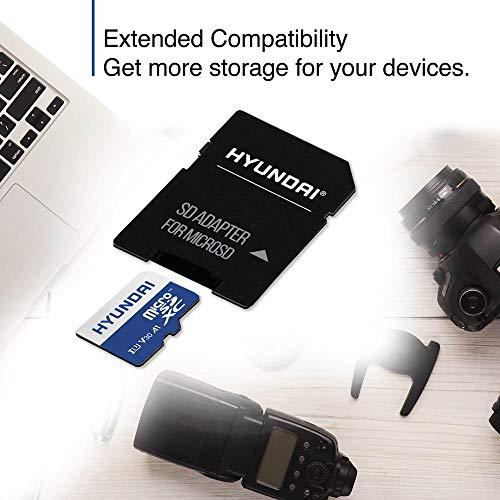 Hyundai 512GB 100MB/s (U3) MicroSD Memory Card with Adapter, 4K Video, Ultra HD (SDC512GU3)