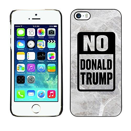 Print Motif Coque de protection Case Cover // Q04150559 Stop Trump marbre gris // Apple iPhone 5 5S 5G