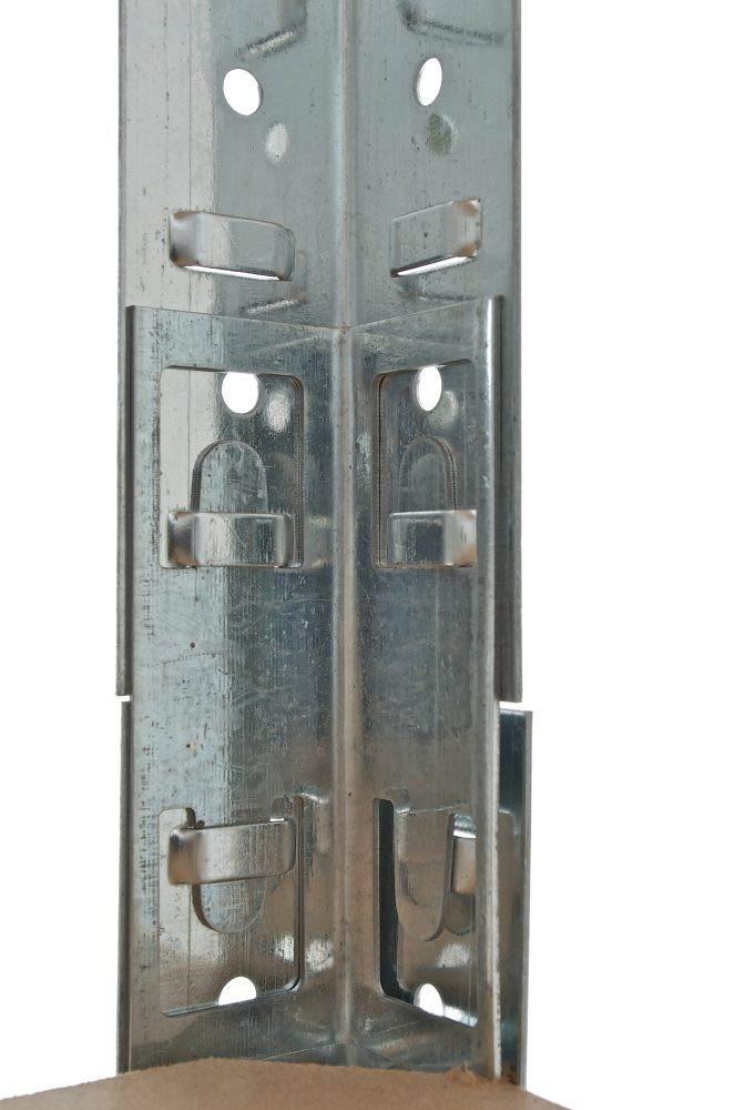 Azul CLP Estanter/ía Met/álica Galvanizada 90x45x180 cm I Estanter/ía con Capacidad por Estante de 265 kg I Estanter/ía Met/álica de 5 Baldas I Color