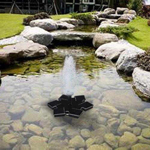 TiTCool Micro Solar Fountain Black Simple Portable Hexagon For Pool Garden Aquarium by TiTCool