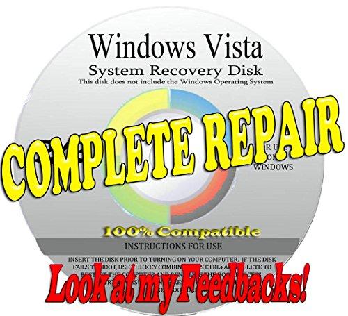 WINDOWS VISTA 64 BIT COMPLETE SYSTEM REPAIR or RESTORE for your Windows operating system [Lastet Version 2015-2016]