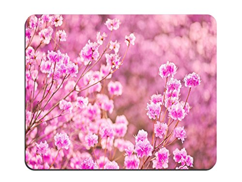 Peach Blossom In Full Bloom Pattern Background Non-Slip Rubber Mousepad Gaming Mouse Pad Mat MP101-01