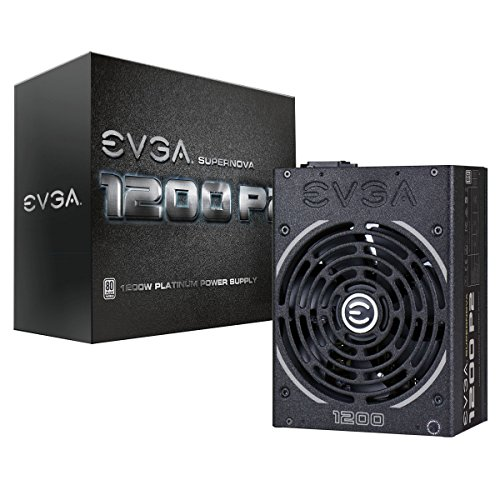 (EVGA Supernova 1200 P2 80+ Platinum, 1200W ECO Mode Fully Modular NVIDIA SLI and Crossfire Ready 10 Year Warranty Power Supply 220-P2-1200-X1)