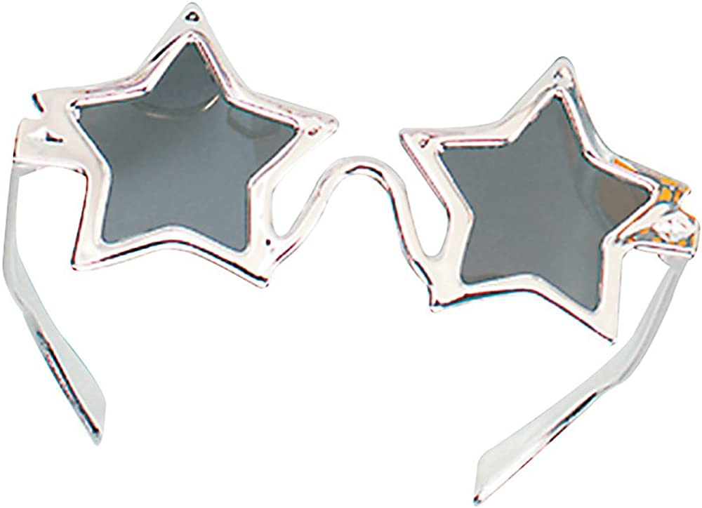 1970/'s Gold And Silver Star Glasses Fancy Dress Accessory