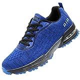GANNOU Men Air Cushion Running Tennis Shoes Trail Lightweight Breathable Athletic Fitness Fashion