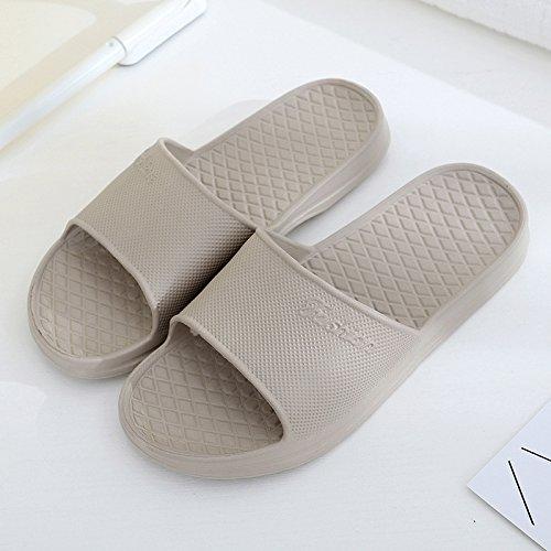mou CWJDTXD pantoufles fond anti mousse de d'été couple fond kaki chaussures épais 43 dérapant Été douche maison intérieur bain et sandales femmes Pantoufles salle masculin PRxqr6P