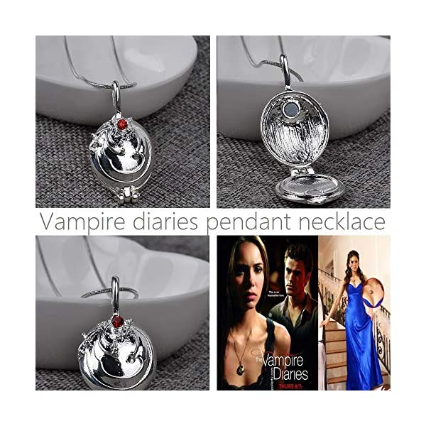 3 Pieces Vampire Diaries Pendant Necklaces Katherine, Bonnie and Vervain Pendants Movie Jewelry Cosplay For Women Girls