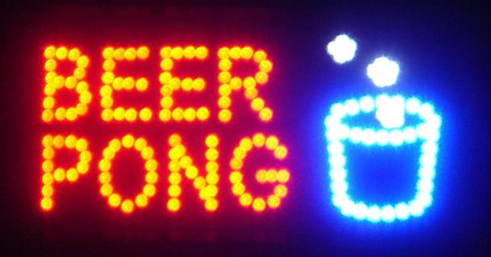 Neon led sign bar flashing lights beer pong text amazon mozeypictures Images