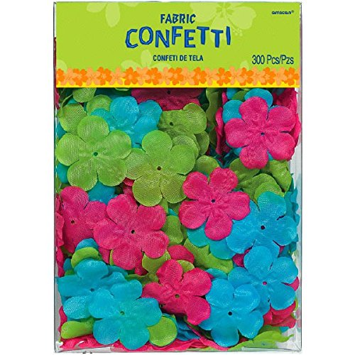 Amscan Sun-Sational Summer Luau Party Hibiscus Flower Confetti (300 Piece), Multicolor, 2 2 TradeMart Inc. 241125