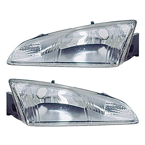 Pair New Left Right Headlight Assembly For Dodge lntrepid 1995 1996 1997 - BuyAutoParts 16-80420A9 New