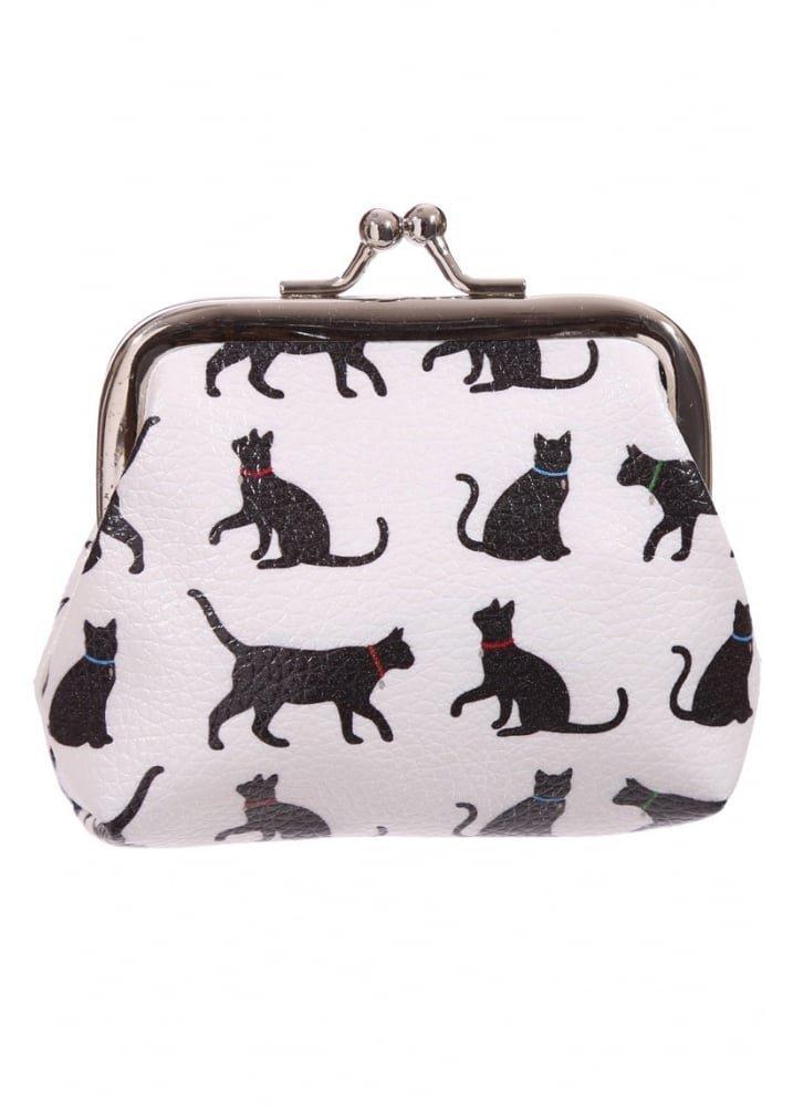 Portamonete borsellino design Sagoma di Gatto nero Subito disponibile PUR31