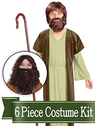 BirthdayExpress Jesus Shepherd Biblical Easter Nativity Child Costume Kit - Medium (8-10) ()