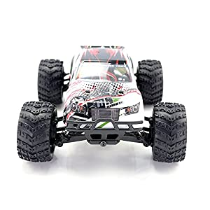 HIMOTO E18MTL RC Brushless Motor Racing Monster Truck 1/18 Scale 2.4G 4WD Electric Power Off Road Buggy Car with 40 km/h+ High Speed, White
