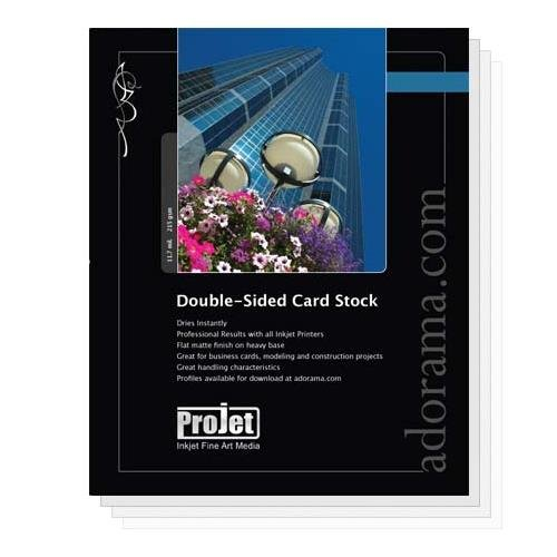 Projet Extra Heavyweight Card Stock, Double Sided Matte Inkjet Paper, 11.7 mil., 8.5x11