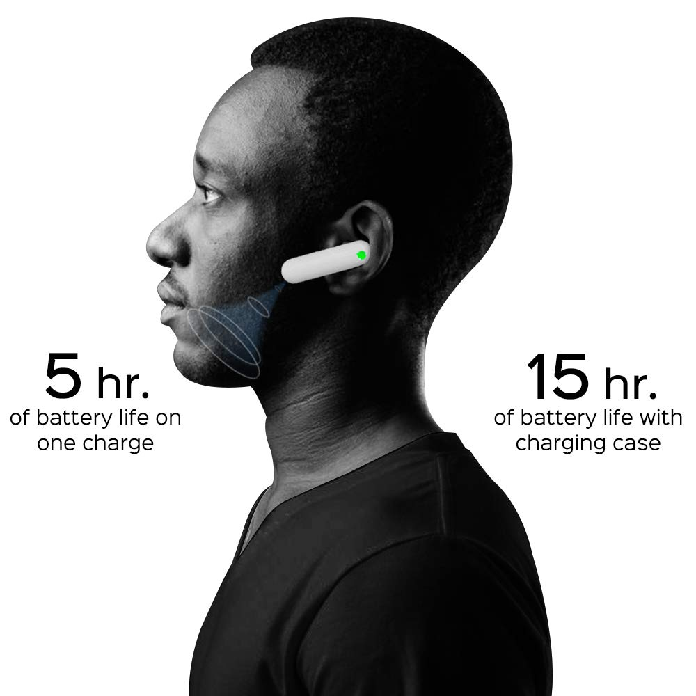 Real Time Translation Supports 36 Languages /& 84 Accents Suitable for iOS /& Android with Charging Case Wireless Bluetooth Translator with APP Voice Translator Earbuds Language Translator Device
