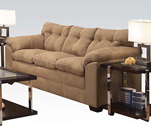 1PerfectChoice Lucille Latte Microfiber Sofa