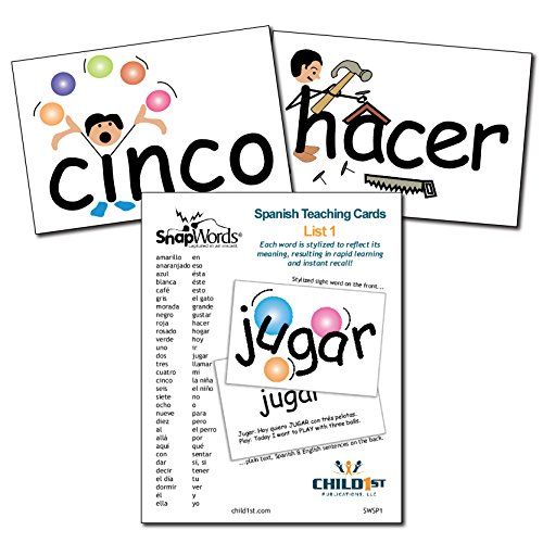 SnapWords Spanish Teaching Cards, List 1
