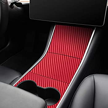 White LUCKEASY for Tesla Model 3 2017-2020 Rear armrest Box ABS Decorative Shape Interior Decoration Auto Accessories