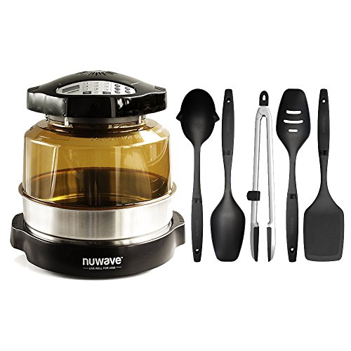 Nuwave Pro Plus Oven w/ 3'' Extender Ring & 5 Piece Nylon Cooking Utensil Set by NuWave