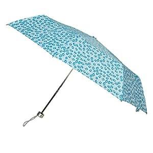 uxcell Metal Ribs 3 Sections Telescopic Polyester Folding Rain Sun Umbrella Blue