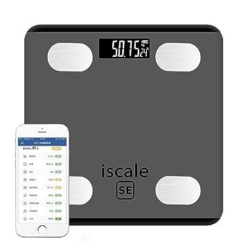 KOBWA - Báscula de Grasa Corporal con Bluetooth, báscula Digital de Peso Inteligente, Capacidad de Monitor de composición, hasta 190 kg, Gris: Amazon.es: ...