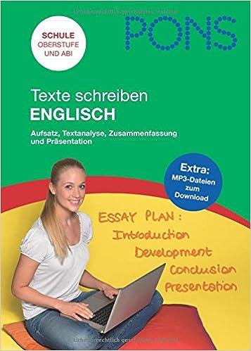 Pons Texte Schreiben Englisch Aufsatz Textanalyse Zusammenfassung