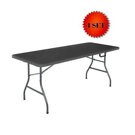 Amazon.com: Cosco Deluxe mesa plegable de 6 pies x 30 ...