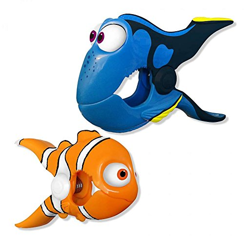 Nemo/Dory Disney BocaClips by O2COOL, Beach Towel Holders, Clips, Set of two, Beach, Patio or Pool Accessories, Portable Towel Clips, Chip Clips, Secure Clips, Assorted -
