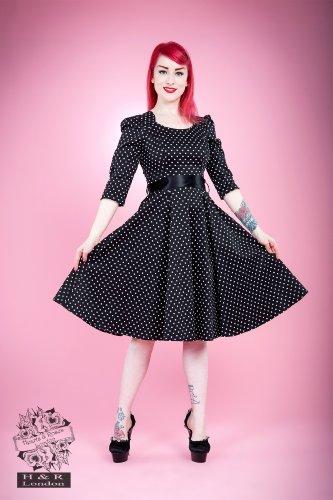 Kleid DRESS amp;R DOTS London SMALL 5367 H Black xWBEn6