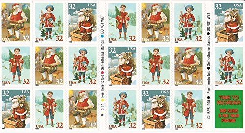 - US Stamp - 1995 Christmas - Booklet of 20 Stamps - Scott #3011a
