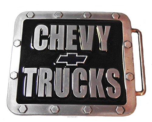 CHEVY TRUCKS Pewter Finished Metal and Enamel BELT BUCKLE (Buckle Trucks Belt)