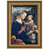 Design Toscano Madonna and Child with Two Angels, c. 1465: Canvas Replica Painting, Grande